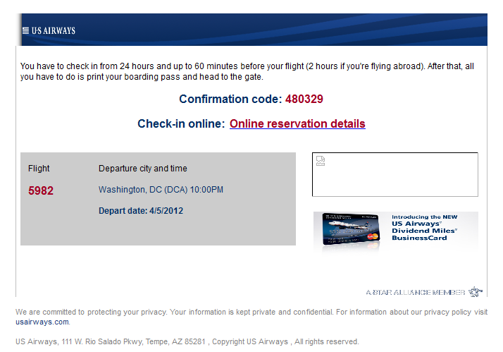 US Airways SCAM