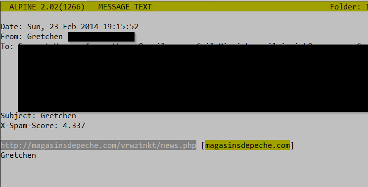 InfoSec Handlers Diary Blog - Those strange e-mails with