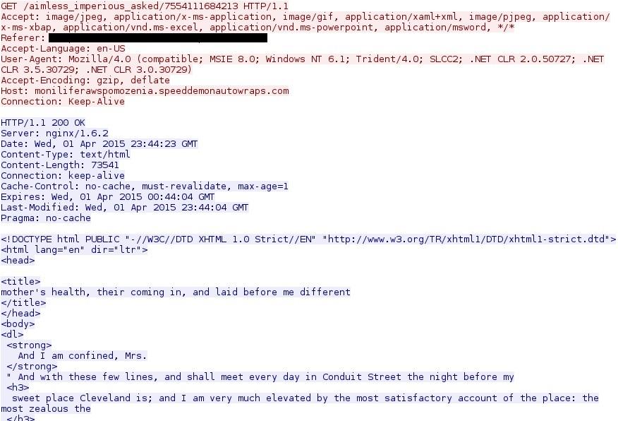 Angler Exploit Kit - Recent Traffic Patterns - SANS Internet Storm