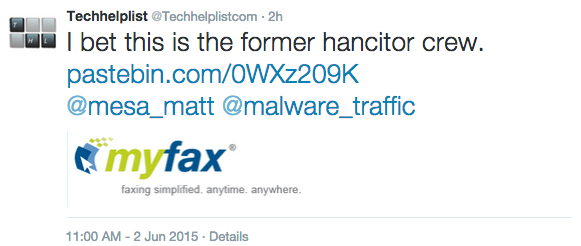 InfoSec Handlers Diary Blog - Myfax malspam wave with links