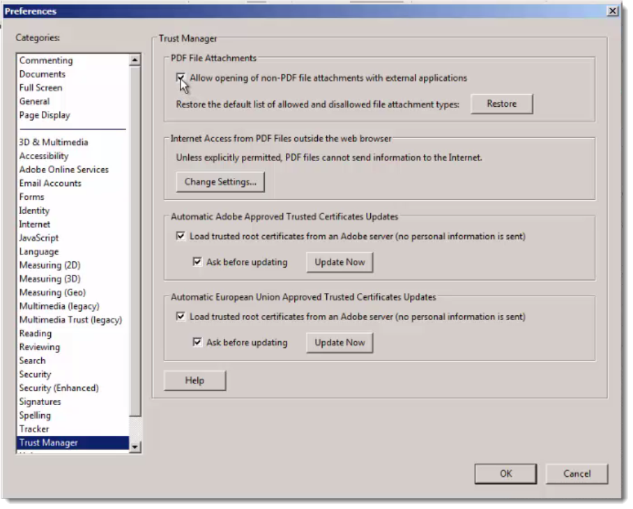 Don't launch that file Adobe Reader! - SANS Internet Storm Center