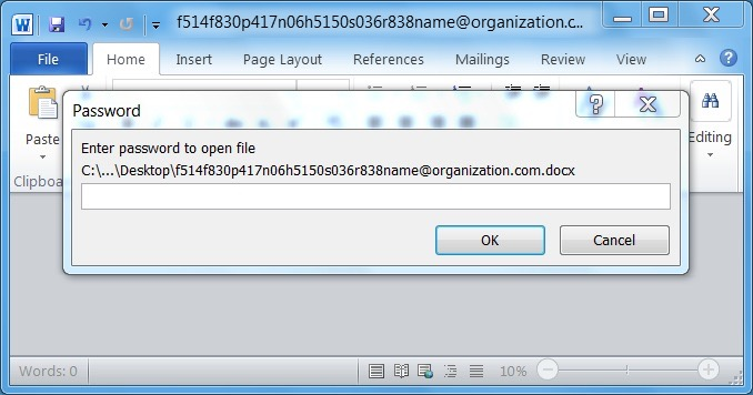 Malspam with password-protected Word documents - SANS