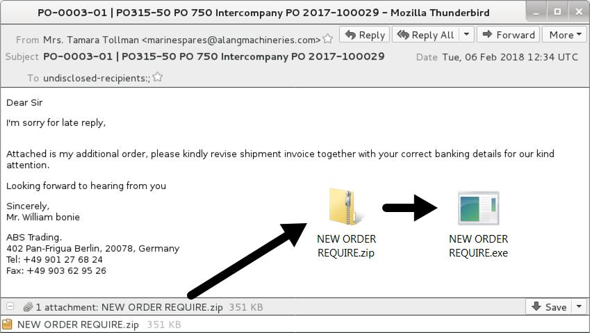 3 examples of malspam pushing Loki-Bot malware - SANS Internet Storm