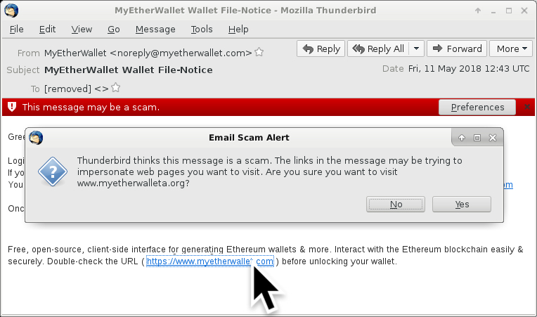 InfoSec Handlers Diary Blog - Phishing emails for fake
