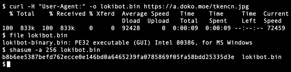 Malspam pushing Lokibot malware - SANS Internet Storm Center