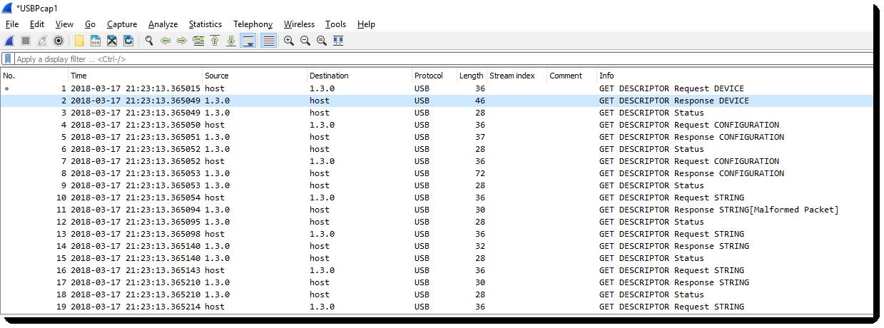 Wireshark 3.0.1