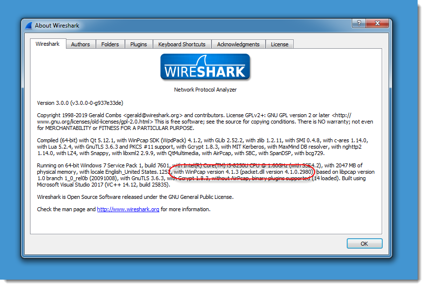 Wireshark 3 0 0 and Npcap: Some Remarks - SANS Internet Storm Center