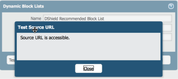 Subscribing to the DShield Top 20 on a Palo Alto Networks