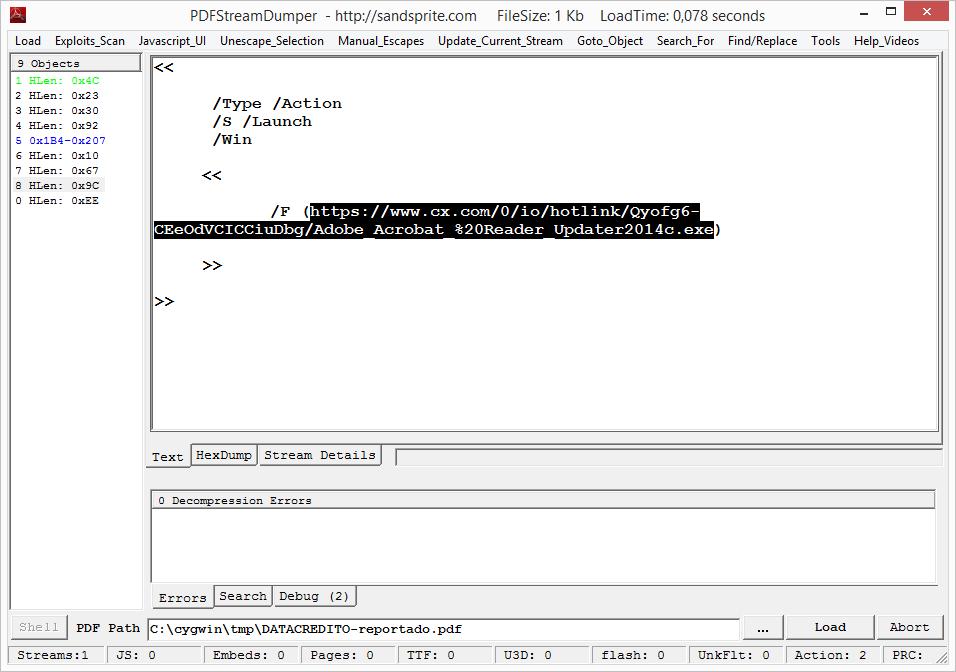PDF Stream Dumper