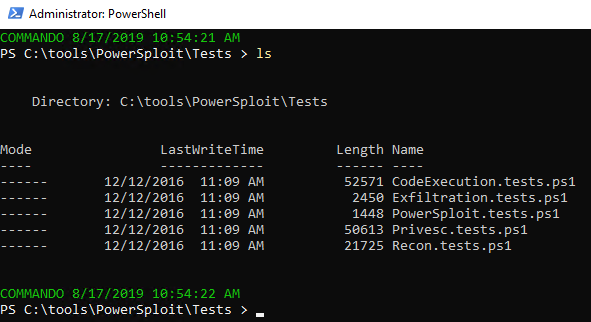 PowerSploit test