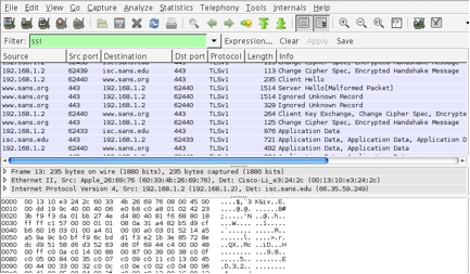 Wireshark SSL Session