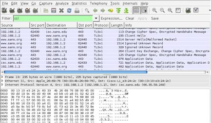 Wireshark SSL Session