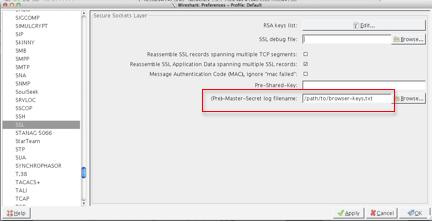 Wireshark SSL Configuration