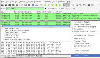 wireshark decrypted session