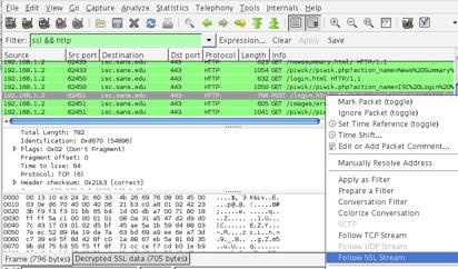 wireshark decrypted session