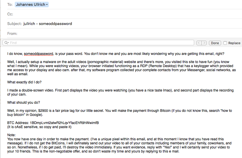 New Extortion Tricks: Now Including Your Password! - SANS