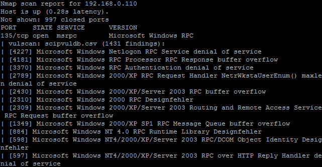 nmap vulnerability script