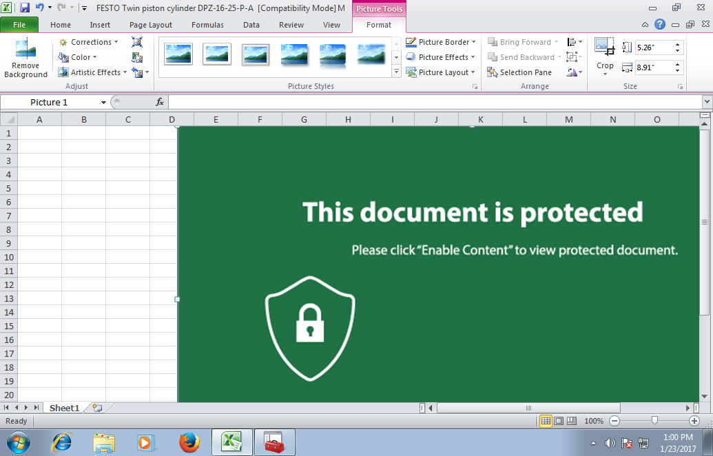 This Excel document implements a fileless UAC bypass using eventvwr.exe