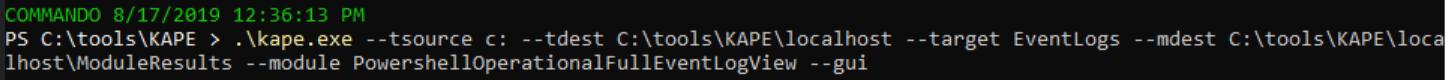 KAPE config