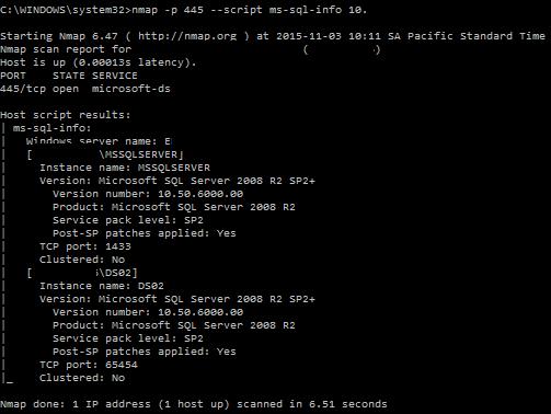 MySQL scan