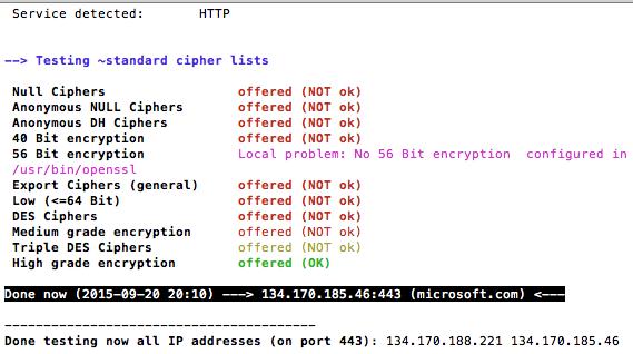 Using testssl sh - SANS Internet Storm Center