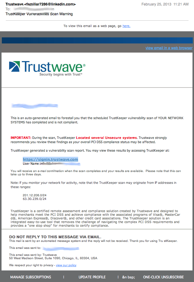 trustwave phishing email
